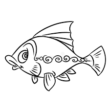 Download Fish Pattern Coloring Pages Stock Photography