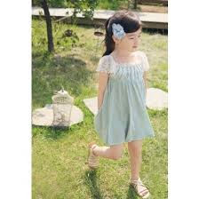 Vintage Inspired Baby Childrens Clothes Mint Dress For Girls