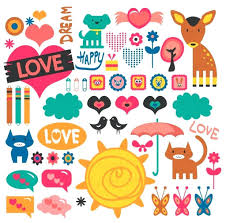 Template Printable Scrapbook Designs Stickers Love Premier Design With Regard To