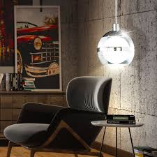 led kugel hängele aus acrylglas mit chrom dekor sing