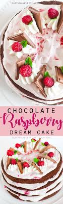 Chocolate Raspberry Cake with Cream Cheese Frosting Tatyanas