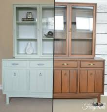 9 Painted Dining Room Hutch Mint Chalk Before And After