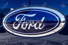 100 Ford Truck Logo Fishers Circa March 2018 Oval Tailgate On An F150