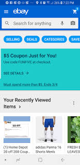 YMMV - $5 OFF FOR $5.01 Or More At Ebay With Code FUNFIVE ... Ebay Gives You A 15 Discount On The Entire Website As Part Printable Outlet Coupons Nike Golden Ginger Wilmington Coupon Great Lakes Skipper Coupon Code 2018 Codes Free 10 Plus Voucher No Minimum Spend Members Only Off App Purchases Today Only Hardforum 5 Off 25 Or More Ymmv Slickdealsnet Ebay Code Free Shipping For Simply Ebay Chase 125 Dollars Promo Ypal Www My T Mobile Norton Renewal Baby Deals Direct Nbury New May 2016