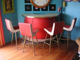How Totally Amazing Is This Vintage Retro Cocktail Bar And Four Matching