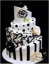 the black and white wedding cakes