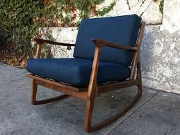 100 Navy Blue Rocking Chair Mid Century Elliot East Hamptons