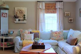 pale blue sofa with corner sofa living room shabby chic style and
