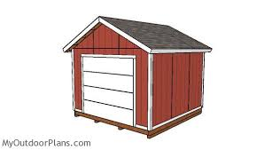 12x12 Storage Shed Plans Free by 12x12 Shed With Garage Door Plans Myoutdoorplans Free
