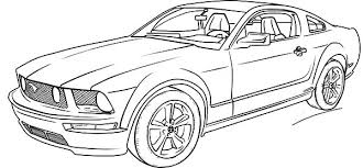 Ford Mustang Car Coloring Pages