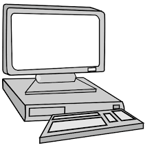 puter Clipart Black And White