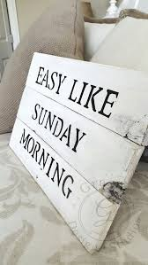 Easy Like Sunday Morning Sign White Pallet Wooden Signs Art