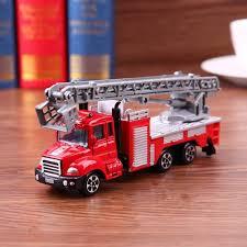 Silveroneuk Simulation Mini Ladder Fire Engine Model Alloy Vehicles ...