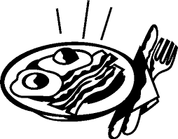 Breakfast clipart black and white 2