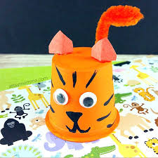 Paper Finger Puppets Templates Elaboration Resume Ideas Tiger Craft