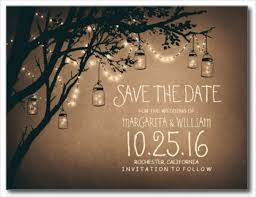Ah Mason Jar Lights Have Become Quite Popular Wedding Decorations Now Especially Since They Look So Amazing This Save The Date Template Would Be