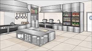 A Kitchen Restaurant Background