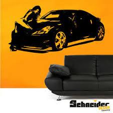 details zu nissan 350z wandtattoo wandaufkleber wandbild sportwagen wohnzimmer deko