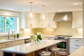 seeded glass pendant lights kitchen transitional with barstools
