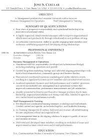 Management Resume Templates Objective Senior