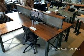 Rustic Office Chairs Desk Accessories Chic Workstation Industrial Furniture Modern Commercial Houston