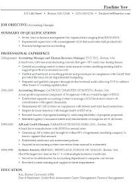 Resume Objective Examples For Account Manager Together With Career Accountant Create Awesome Good