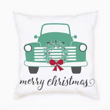 100 What Is A Tandem Truck Pillow 18 Green Christmas For Two