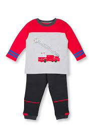 Le Top | Fire Engine #17 2-Piece Set (Baby Boys) | Nordstrom Rack