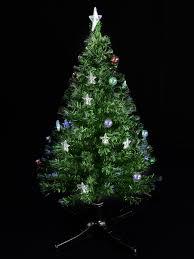 Fiber Optic Rotating Tabletop Christmas Tree by Led Bauble U0026 Star Rotating Fibre Optic Tree 1 2m Christmas
