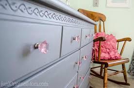 gray and pink dresser makeover for a big girl room unoriginal mom