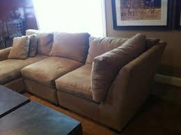 gently used crate barrel axis sectional question