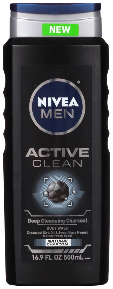 Nivea Men Active Clean Charcoal Body Wash - 500ml