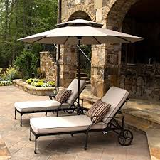 Sunbrella Patio Umbrellas Amazon by Amazon Com 9 U0027 Led Solar Market Umbrella With Sunbrella Fabric