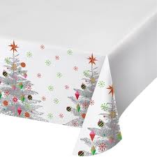 Bright Christmas Tree Plastic Tablecloth Target