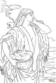 Click The Baby Moses And Jochebed Coloring Pages To View Printable