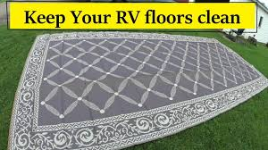 new rv reversible awning mat review youtube
