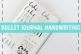 BULLET JOURNAL HANDWRITING