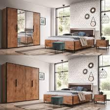 schlafzimmer komplett lotos set a schrank 4t bett 160 180x200 2 nachttische kommode