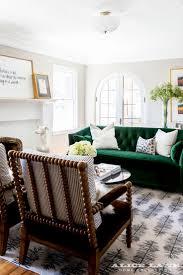 Tufted Velvet Sofa Furniture by Best 25 Green Sofa Ideas On Pinterest Green Living Room Sofas