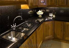 Black Kitchen Sink India by Black Galaxy Granite Kitchen Countertops Indian Black Granite