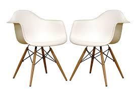 Danish Modern Sofa Legs by Amazon Com Baxton Studio Fiorenza White Plastic Armchair With