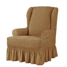 Brown Slipcovers - Sears Baxton Studio Patterson Wingback Beige Linen And Burlap Nailhead Tufted Accent Chair Sure Fit Striped Slipcover Products Custom Slipcovers By Shelley Gray Waterfall Skirt Couch Wingbackchaenviroment2 Decoration Inc Pin Gail On Stuff To Make For Chairs Upholstery Leather 53 Market Rustic Denim Farmhouse Chic Outdoor Youll Love In 2019 Wayfair Subrtex 2piece Elegant Jacquard Wing Back Cover Covers Chocolate 34 Examples Of Lavish Photographs Loose For Ding Making Room Loccie Better Homes