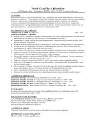 Elegant Respiratory Therapist Resume Example Summary Pltw Registered Sample