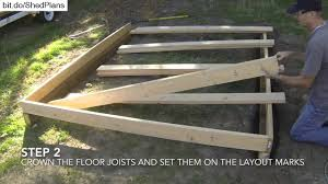 12x16 Shed Kit With Floor by How To Build A Shed Part 2 Floor Framing Youtube
