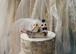 Owls Wedding Cake Topper Fall Barn Rustic OWLS