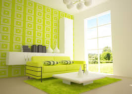 Teal Sofa Living Room Ideas by Bright Green Living Room With Nice Walls Sofa And Soft Rug Green