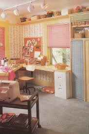I Didnt See Too Many Craft Rooms In The Magazines But Here Is A Beauty Again Pastel Shades It Also Has Girly Florals Baskets And Blinds Rather Than