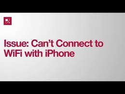 Issue Can t Connect to WiFi with iPhone