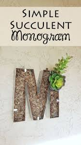 Make This Simple Monogram Decor With Just A Few Craft Supplies