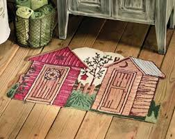 Rustic Bathroom Rug Sets by Best 25 Outhouse Bathroom Ideas On Pinterest Outhouse Bathroom